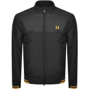 Fred Perry Printed Panel Sports Jacket Black