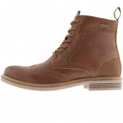 Barbour Belsay Brogue Derby Boots Brown