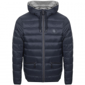 Armani Exchange Hooded Down Jacket Navy