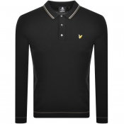 Lyle And Scott Knit Long Sleeve Polo Jumper Black