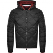 Armani Exchange Hooded Down Jacket Black