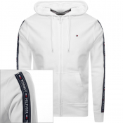 Tommy Hilfiger Lounge Icon Logo Zip Hoodie White
