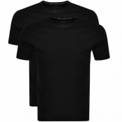 Calvin Klein 2 Pack Crew Neck T Shirts Black
