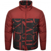 Armani Exchange Quilted Down Jacket Red
