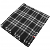 Tommy Hilfiger Tailored Check Scarf In Black