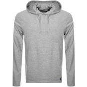 Ralph Lauren Long Sleeved Hooded T Shirt Grey