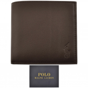 Ralph Lauren Billfold Leather Wallet Brown