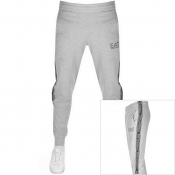 EA7 Emporio Armani Tape Logo Jogging Bottoms Grey