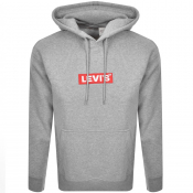Levis Relaxed Graphic Logo Hoodie Grey
