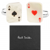 PS By Paul Smith Aces Cufflinks Set Silver