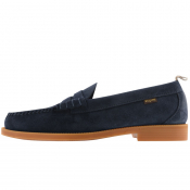 GH Bass Weejun II Larson Suede Loafers Navy