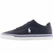Ralph Lauren Hanford Leather Trainers Navy