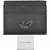 Emporio Armani Leather Card Holder Black
