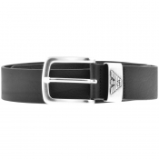 Emporio Armani Leather Belt Black