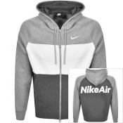 Nike Air Full Zip Logo Hoodie Grey