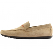 HUGO Dandy Driver Suede Shoes Beige