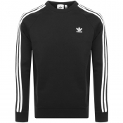 adidas Originals Three Stripe Sweatshirt Black