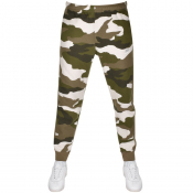 Nike Camouflage Club Jogging Bottoms Green
