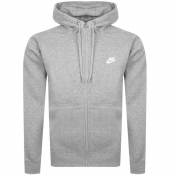 Nike Full Zip Club Hoodie Grey