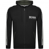 BOSS Bodywear Full Zip Hoodie Black