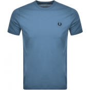 Fred Perry Ringer T Shirt Blue
