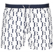 BOSS HUGO BOSS Seahorse Swim Shorts White