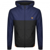 Fred Perry Logo Hooded Jacket Blue