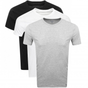 Ralph Lauren 3 Pack Crew Neck T Shirts Grey