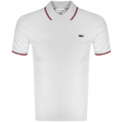Lacoste Sport Tipped Polo T Shirt White