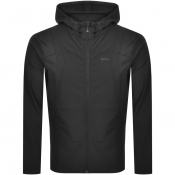 BOSS Swoven Full Zip Hoodie Black