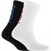 HUGO Double Pack Logo Socks White