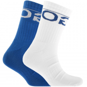 HUGO Logo Sport Socks Double Pack Blue