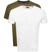 HUGO 2 Pack Crew Neck T Shirt Khaki