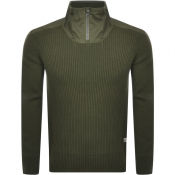 G Star Raw Dast Half Zip Jumper Green