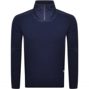 G Star Raw Dast Half Zip Jumper Blue