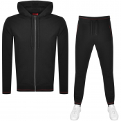 HUGO Hooded Tracksuit Black