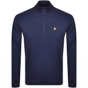 Lyle And Scott Half Zip Pique Sweatshirt