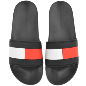 Tommy Hilfiger Flag Sliders Black