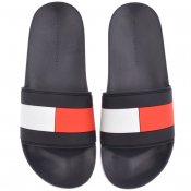 Tommy Hilfiger Flag Sliders Navy