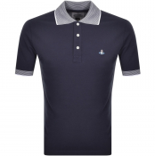 Vivienne Westwood Short Sleeved Polo T Shirt Navy