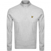 Lyle And Scott Half Zip Pique Sweatshirt Grey