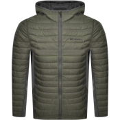 Columbia Powder Pass Down Hooded Jacket Green