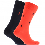 Ralph Lauren 2 Pack Classic Crew Socks Red