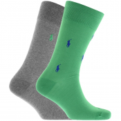 Ralph Lauren 2 Pack Classic Crew Socks Green