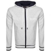 BOSS Bodywear Heritage Full Zip Hoodie Grey