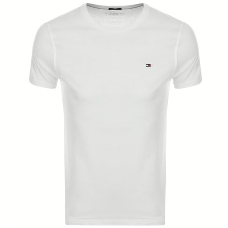 Tommy Hilfiger Tops CORE SLIM FIT T SHIRT WHITE