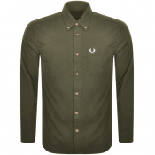Fred Perry Overdyed Long Sleeve Shirt Green