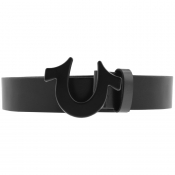 True Religion Horseshoe Logo Belt Black