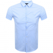 Emporio Armani Short Sleeved Slim Fit Shirt Blue