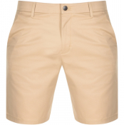 Calvin Klein Jeans Slim Fit Chino Shorts Beige